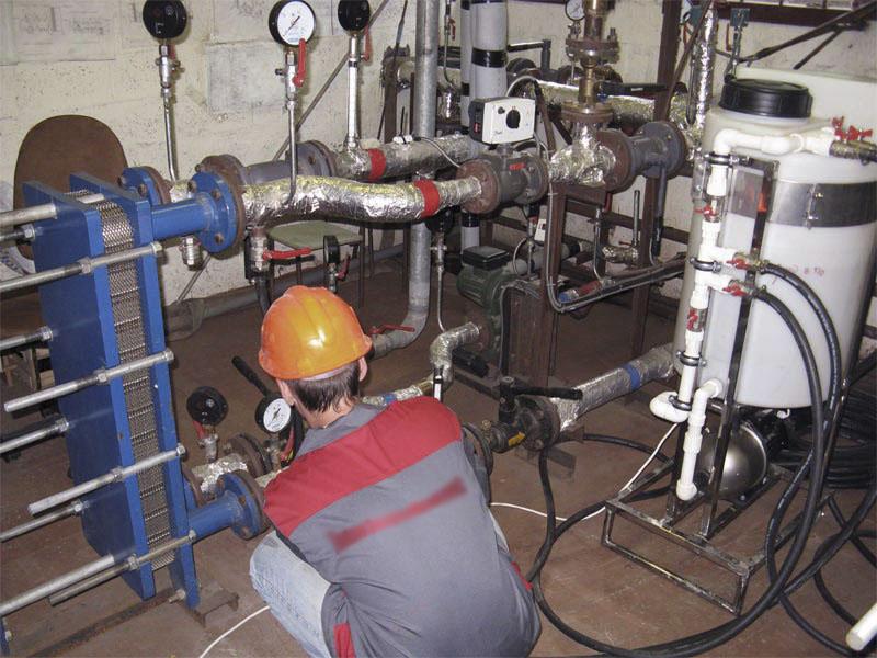 Монтаж теплообменника для инженерных систем