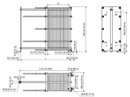 Схема теплообменника S19A