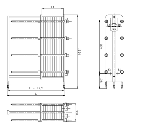 Схема теплообменника S20A