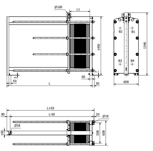 Схема теплообменника S42