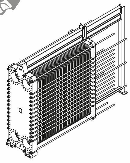 Чертеж теплообменника A12L
