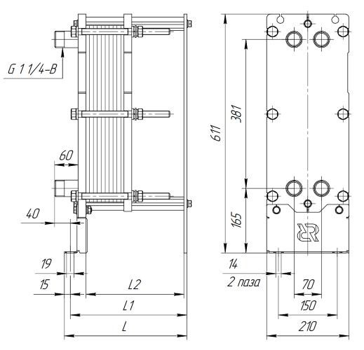 Схема теплообменника Ридан НН04