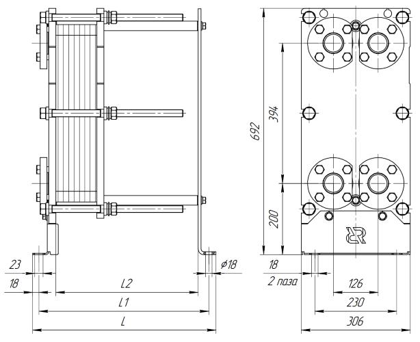 Схема теплообменника Ридан НН07