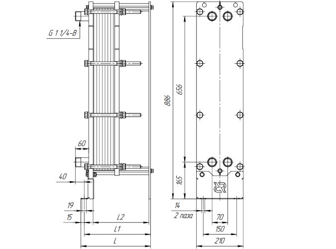 Схема теплообменника Ридан НН08