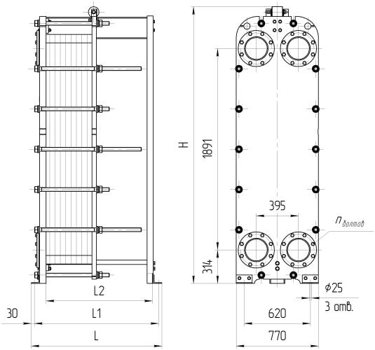 Схема теплообменника Ридан НН130