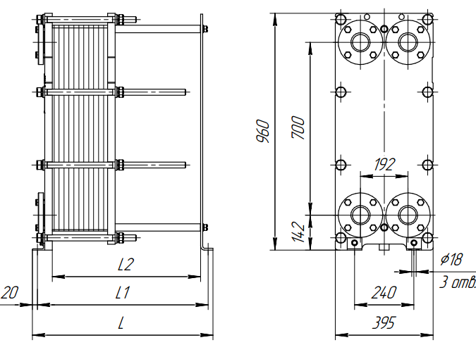 Схема теплообменника Ридан НН19