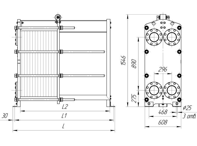 Схема теплообменника Ридан НН41