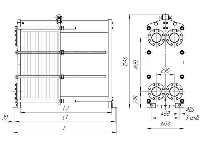 Схема теплообменника Ридан НН42