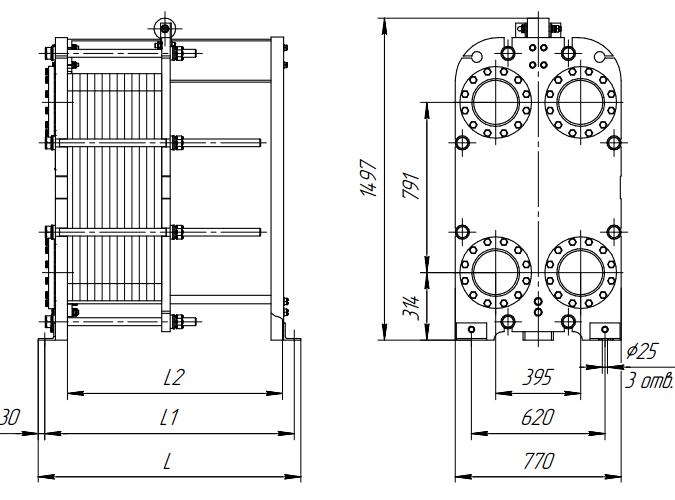 Схема теплообменника Ридан НН43