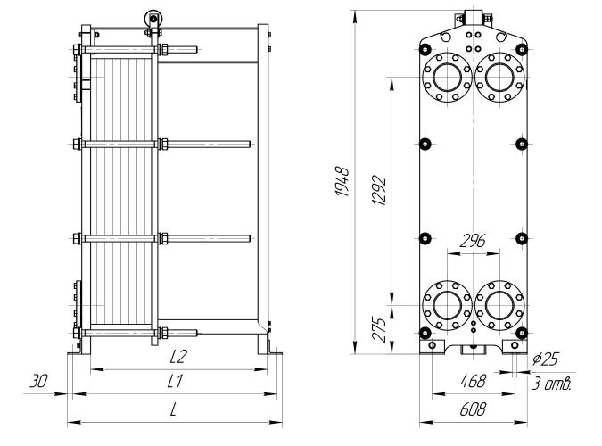 Схема теплообменника Ридан НН62