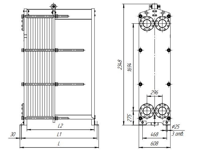 Схема теплообменника Ридан НН86